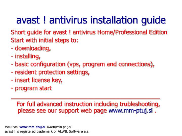 Avast antivirus installation guide