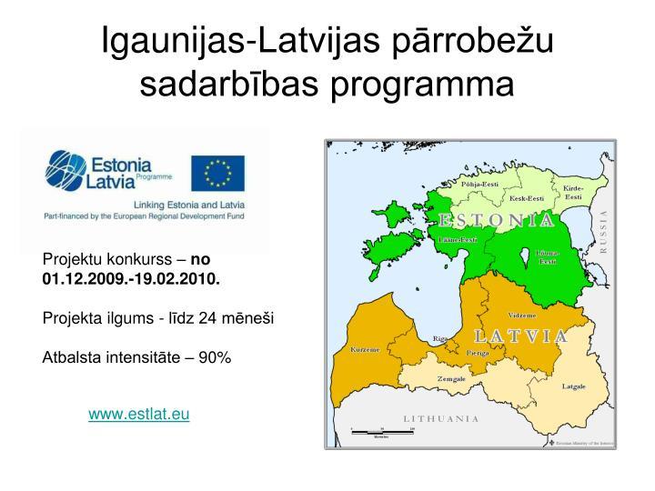 Igaunijas-Latvijas pārrobežu sadarbības programma