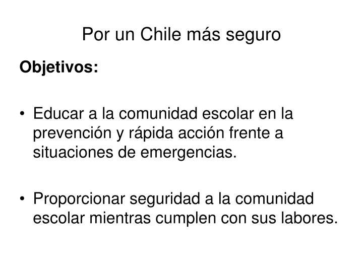 Por un Chile más seguro
