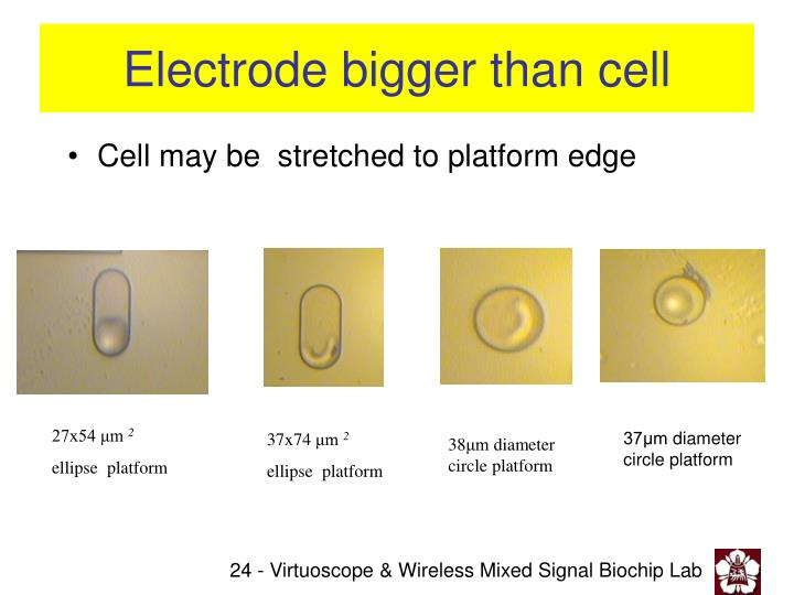 Electrode bigger than cell