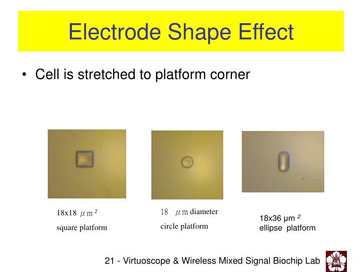 Electrode Shape Effect