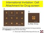 international invitation cell attachment for drug screen