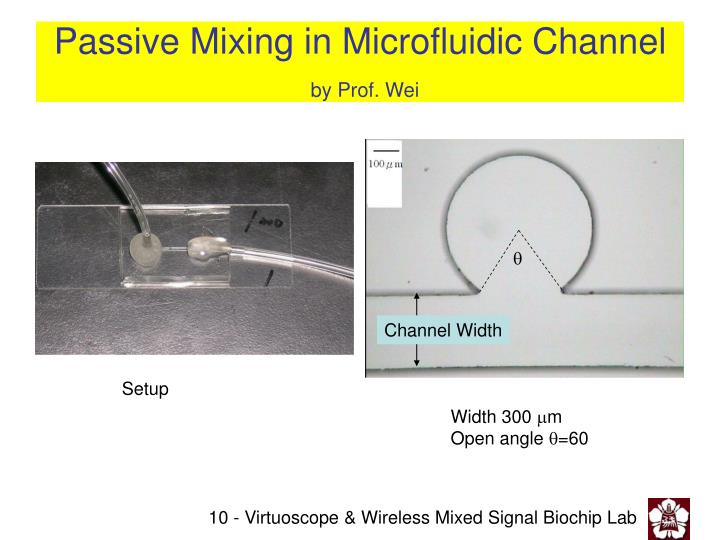 Passive Mixing in Microfluidic Channel