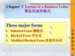 chapter layout of a business letter