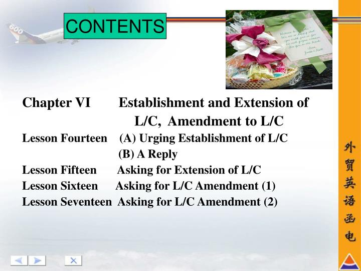 Chapter VI        Establishment and Extension of