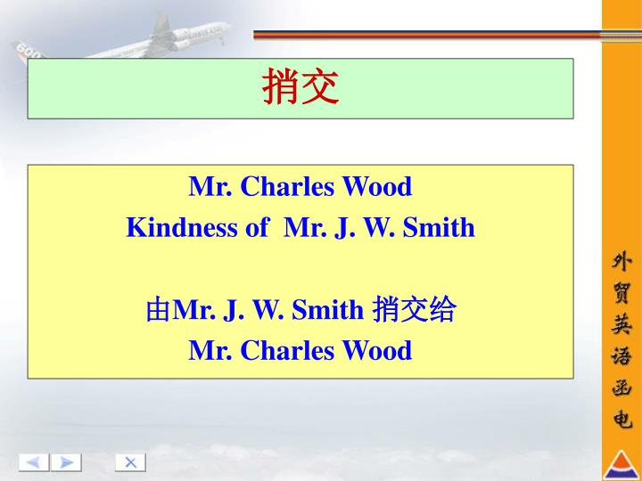 Mr. Charles Wood