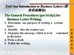 unit one introduction to business letters3