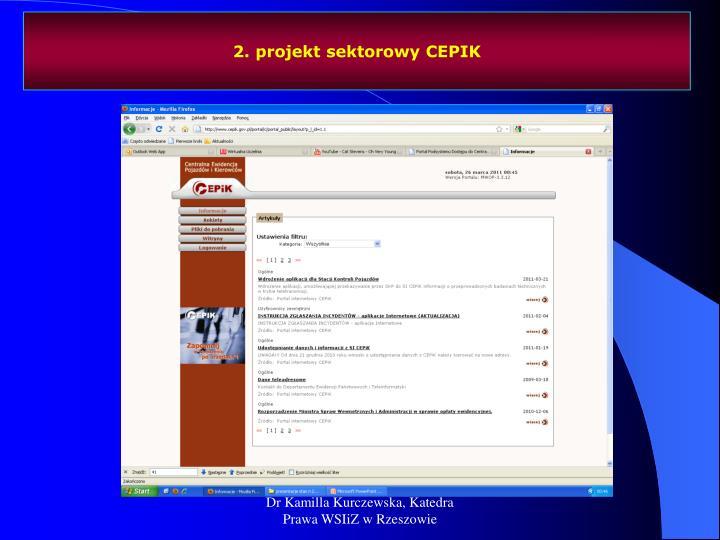 2. projekt sektorowy CEPIK