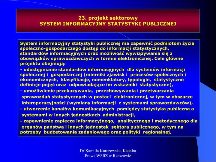 23. projekt sektorowy