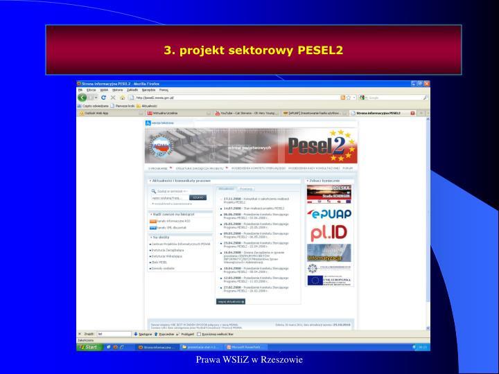 3. projekt sektorowy PESEL2