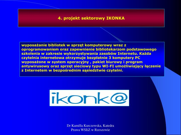 4. projekt sektorowy IKONKA