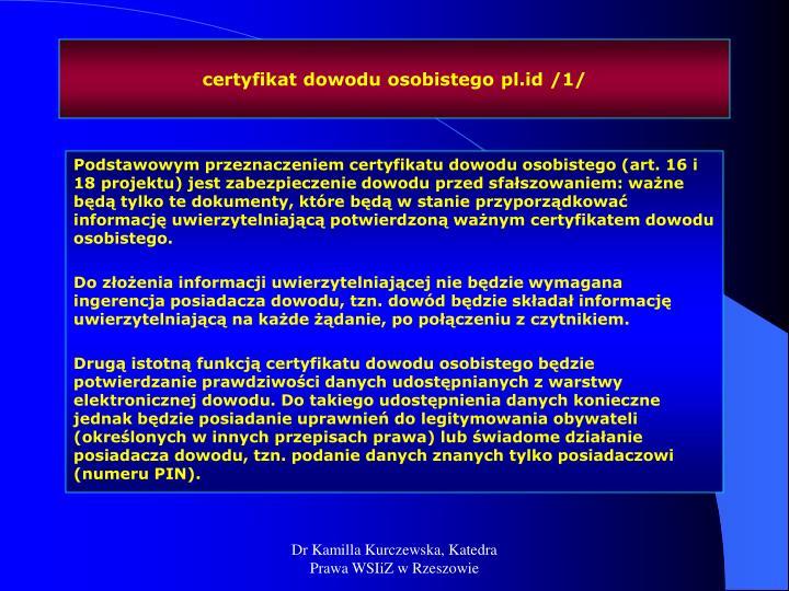 certyfikat dowodu osobistego pl.id /1/