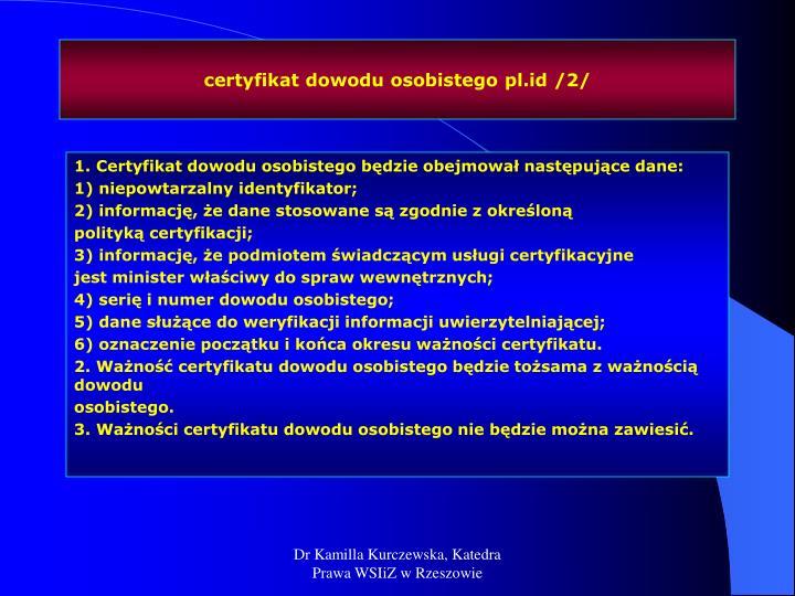 certyfikat dowodu osobistego pl.id /2/