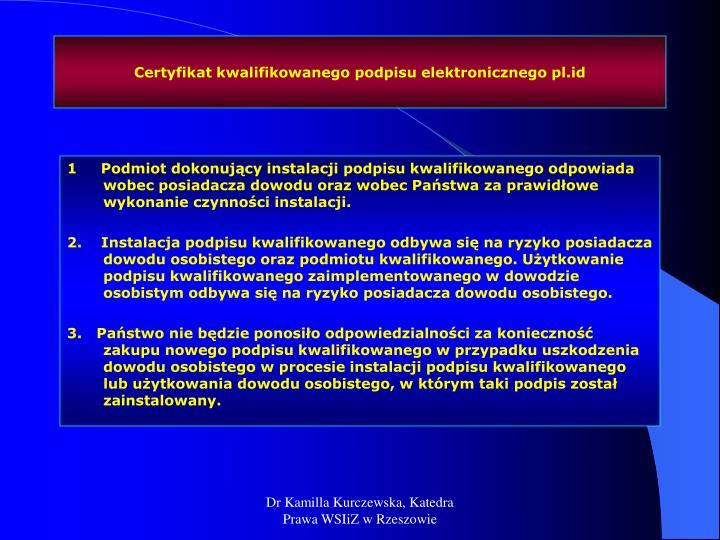 Certyfikat kwalifikowanego podpisu elektronicznego pl.id