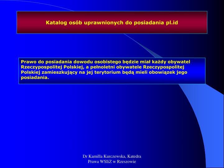 Katalog osób uprawnionych do posiadania pl.id