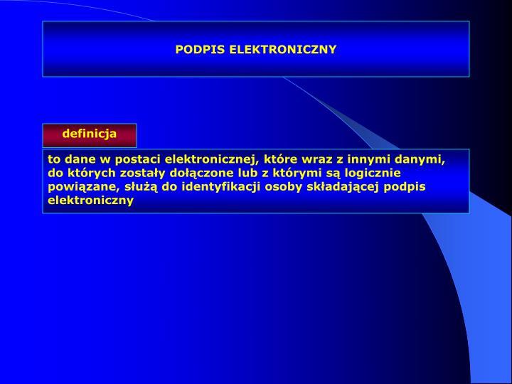 PODPIS ELEKTRONICZNY