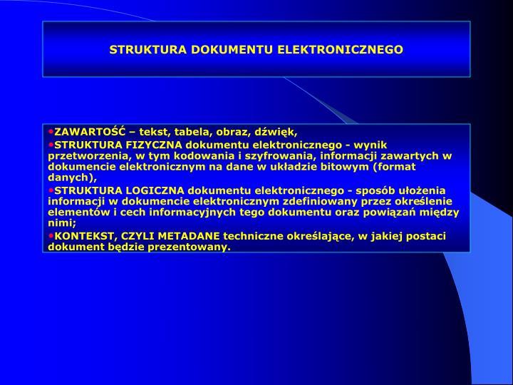 STRUKTURA DOKUMENTU ELEKTRONICZNEGO