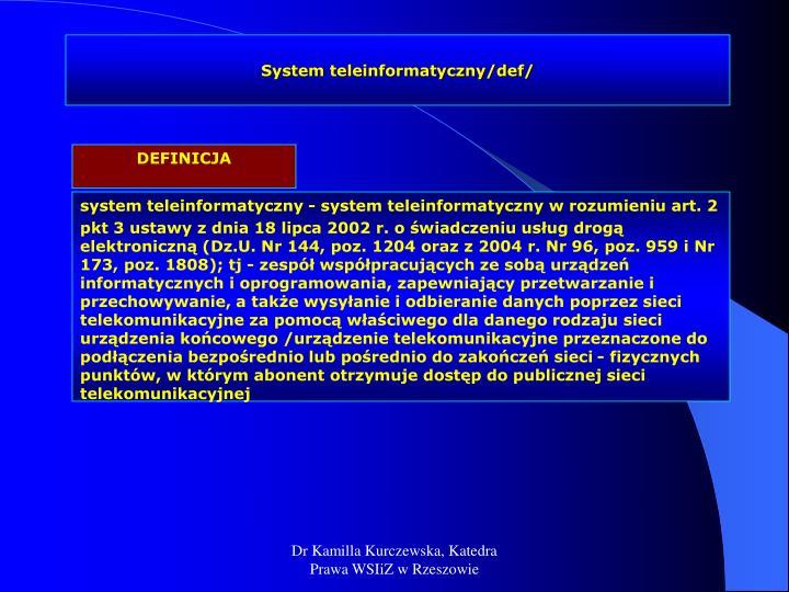 System teleinformatyczny/def/