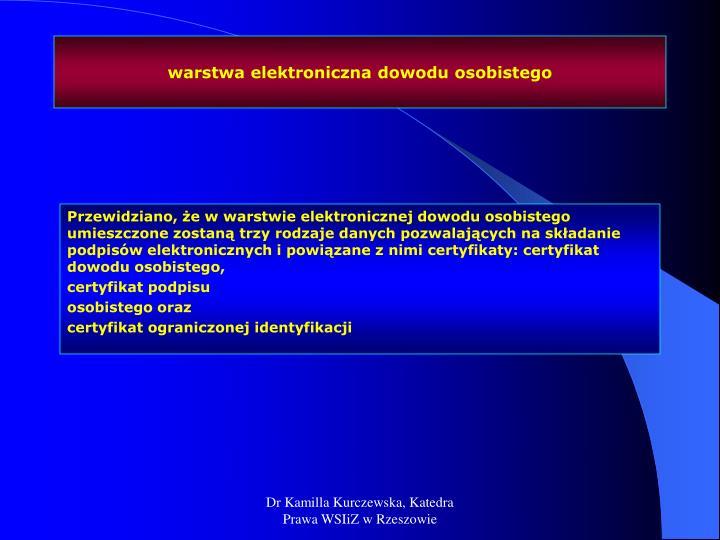 warstwa elektroniczna dowodu osobistego