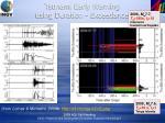 tsunami early warning using duration exceedance