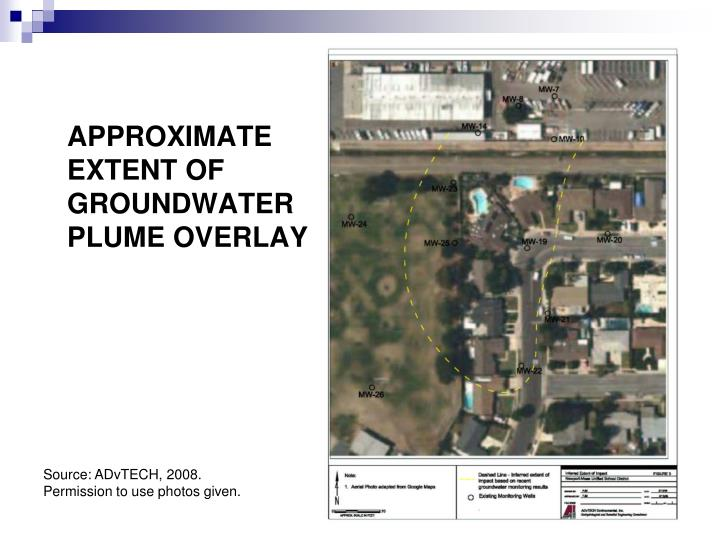 APPROXIMATE EXTENT OF GROUNDWATER PLUME OVERLAY