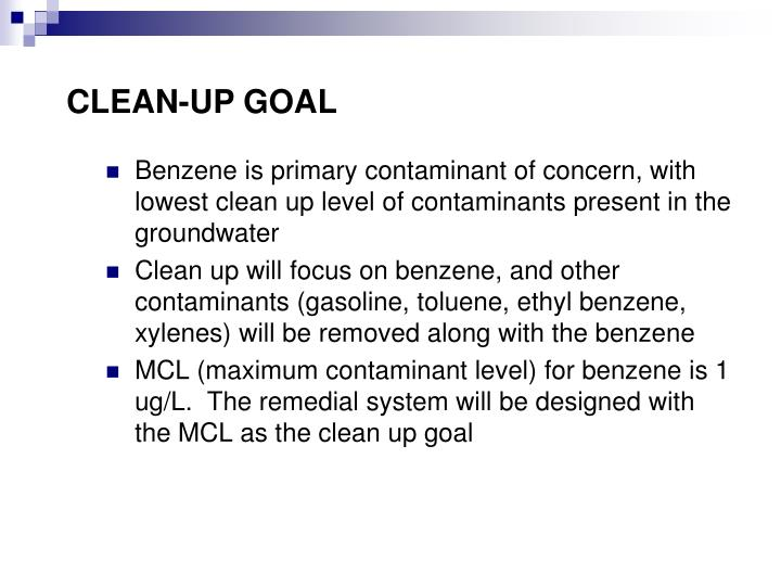CLEAN-UP GOAL
