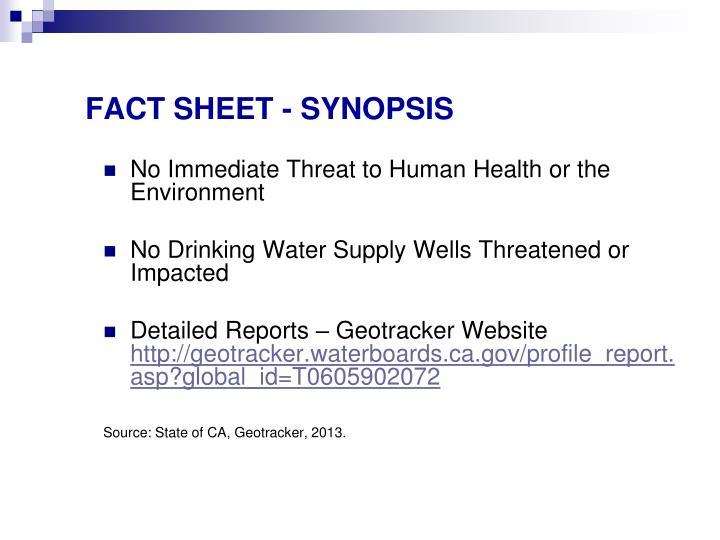 FACT SHEET - SYNOPSIS