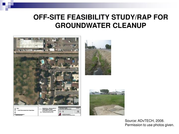 OFF-SITE FEASIBILITY STUDY/RAP FOR GROUNDWATER CLEANUP
