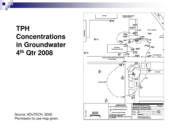 TPH Concentrations in Groundwater 4