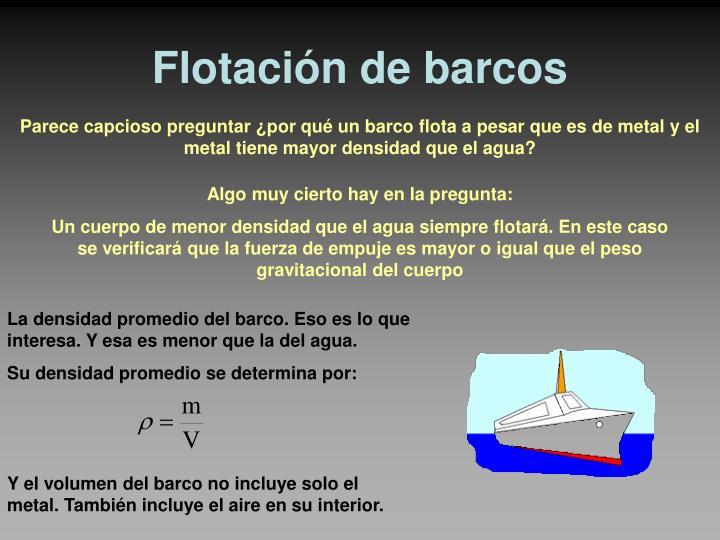 Flotación de barcos