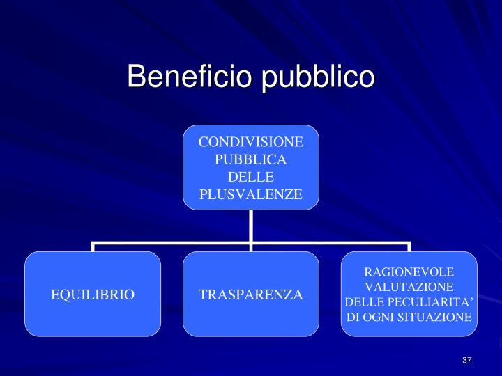 Beneficio pubblico