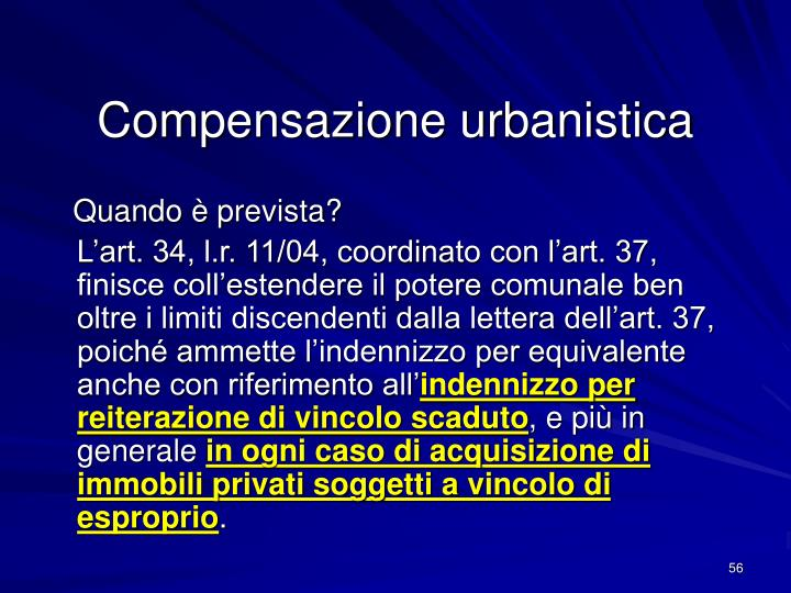 Compensazione urbanistica