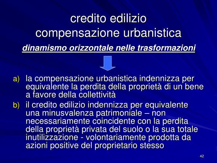 credito edilizio
