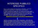 interesse pubblico specifico