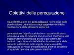 obiettivi della perequazione