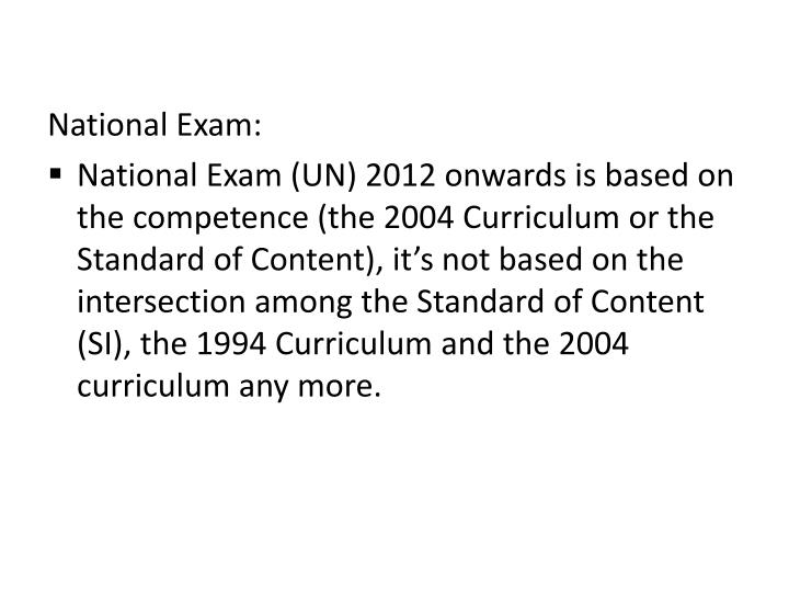 National Exam: