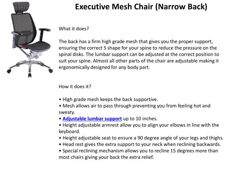 Executive Mesh Chair (Narrow Back