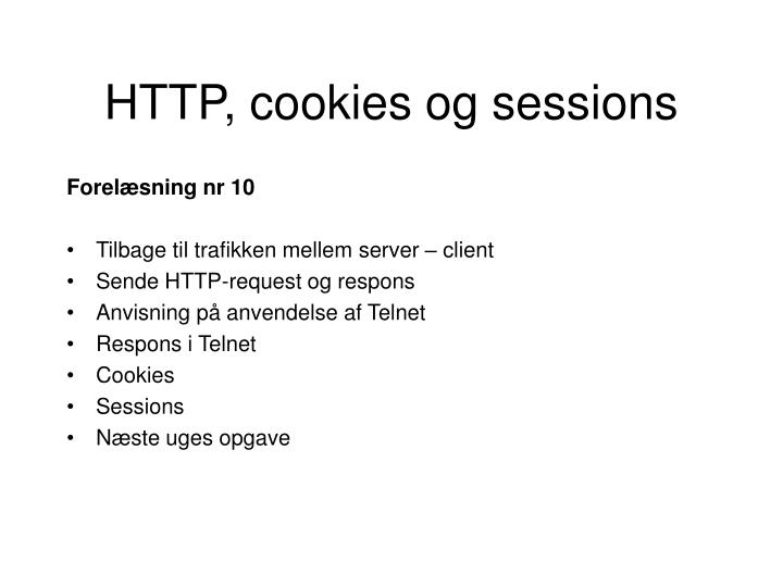Http cookies og sessions