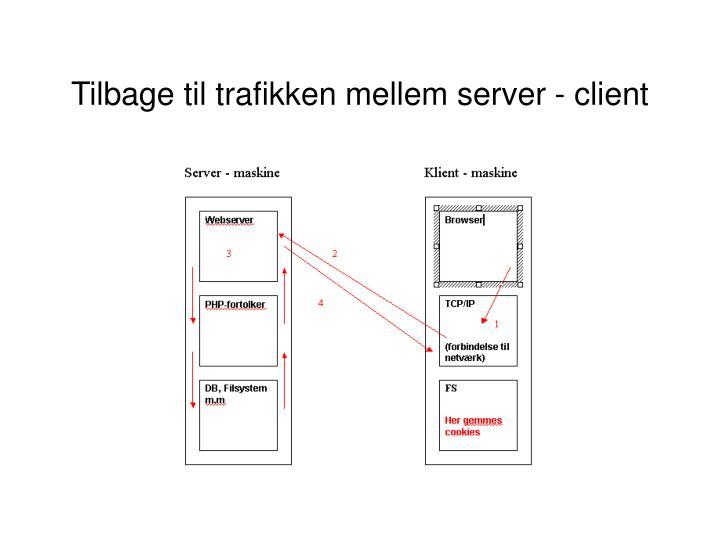 Tilbage til trafikken mellem server - client