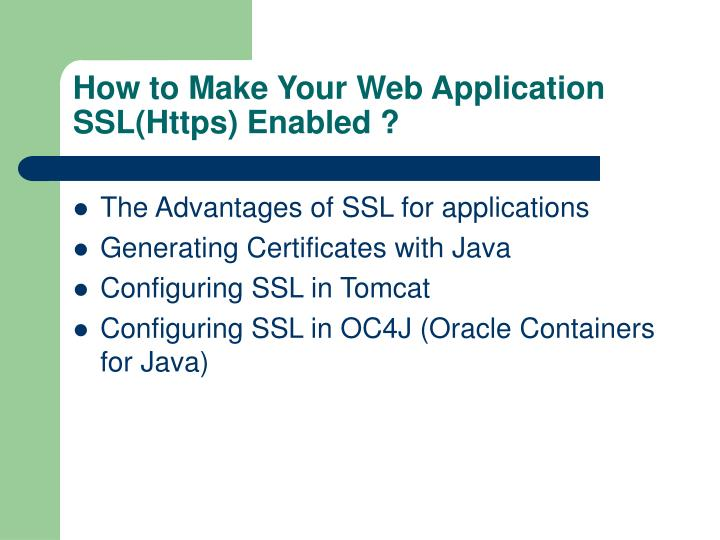 How to Make Your Web Application