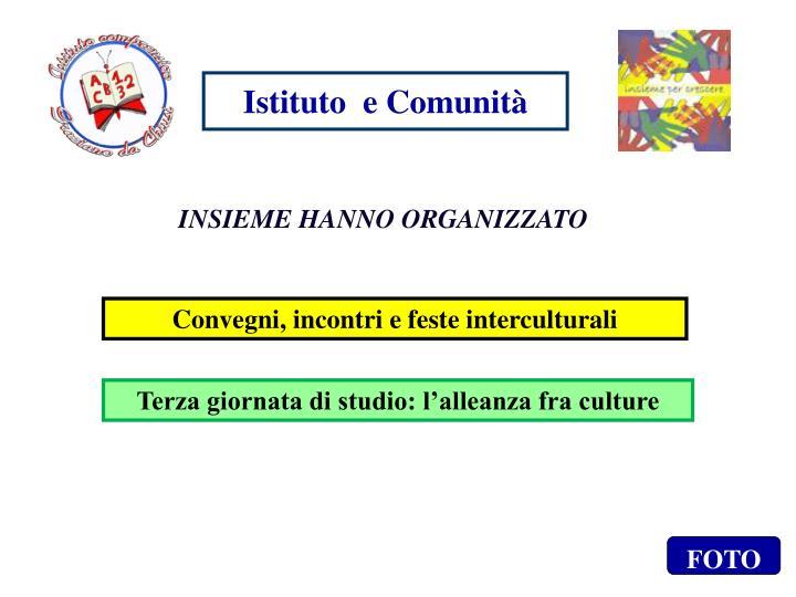 Istituto  e Comunità
