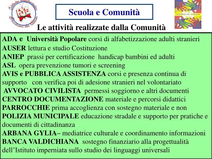 Scuola e Comunità