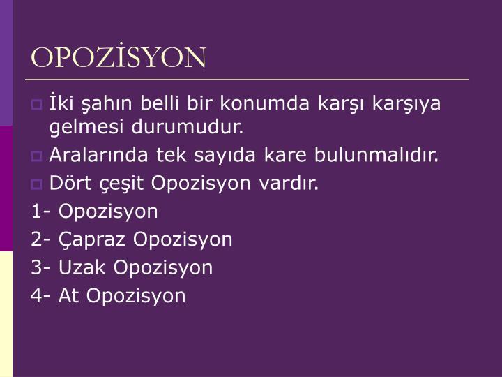 OPOZİSYON