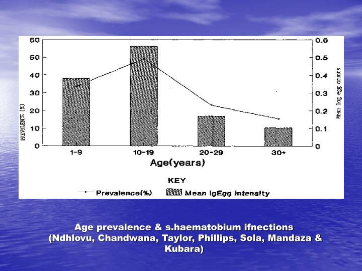 Age prevalence & s.haematobium ifnections