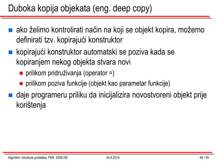Duboka kopija objekata (eng. deep copy)
