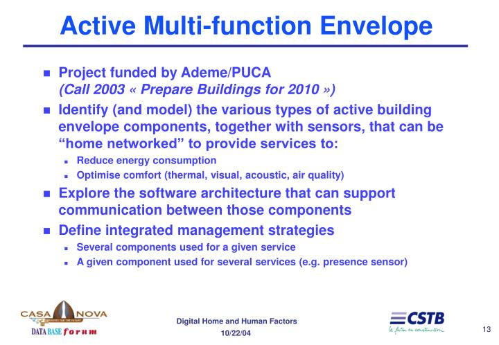 Active Multi-function Envelope