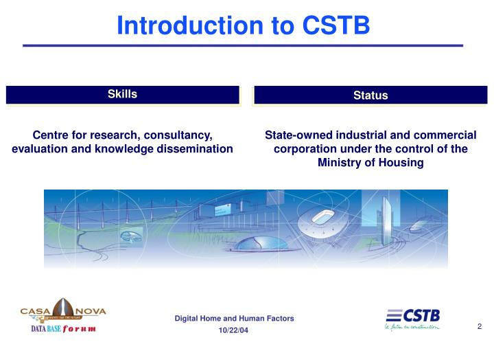 Introduction to cstb