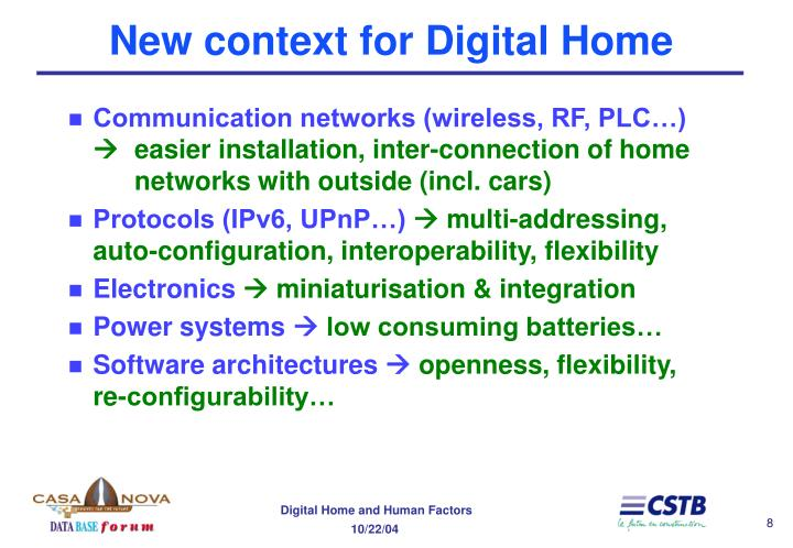 New context for Digital Home