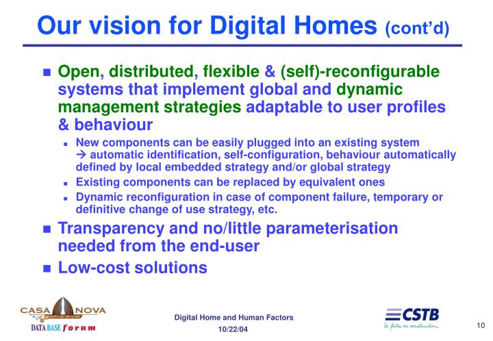 Our vision for Digital Homes