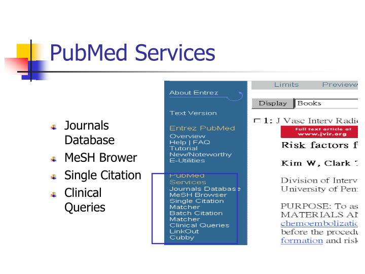 PubMed Services
